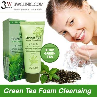 [3W Clinic] Sữa rửa mặt Green Tea Foam Cleansing
