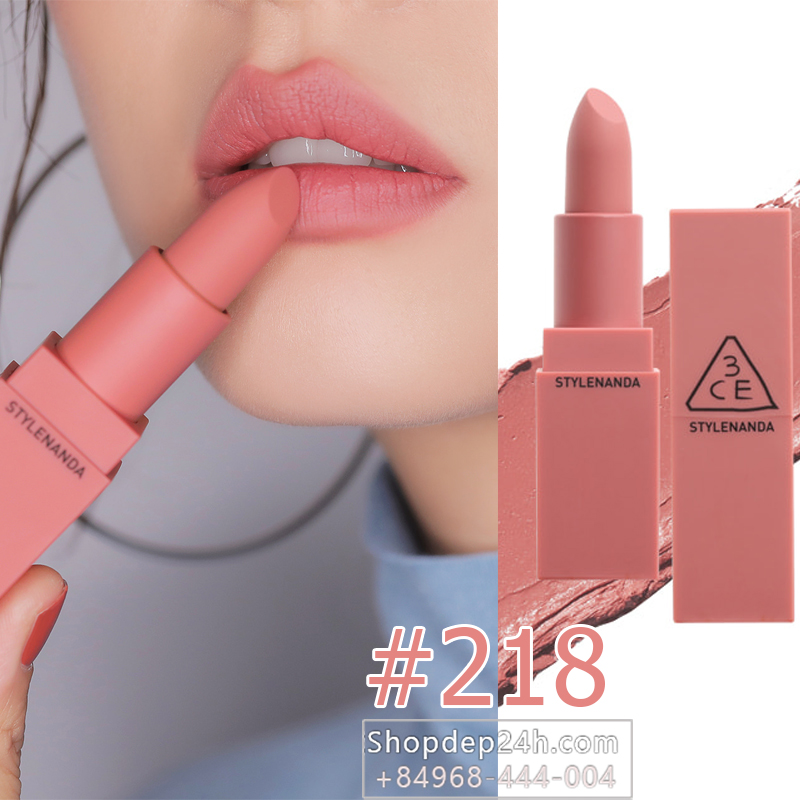 3CE MOOD RECIPE MATTE LIP COLOR  2017 #218