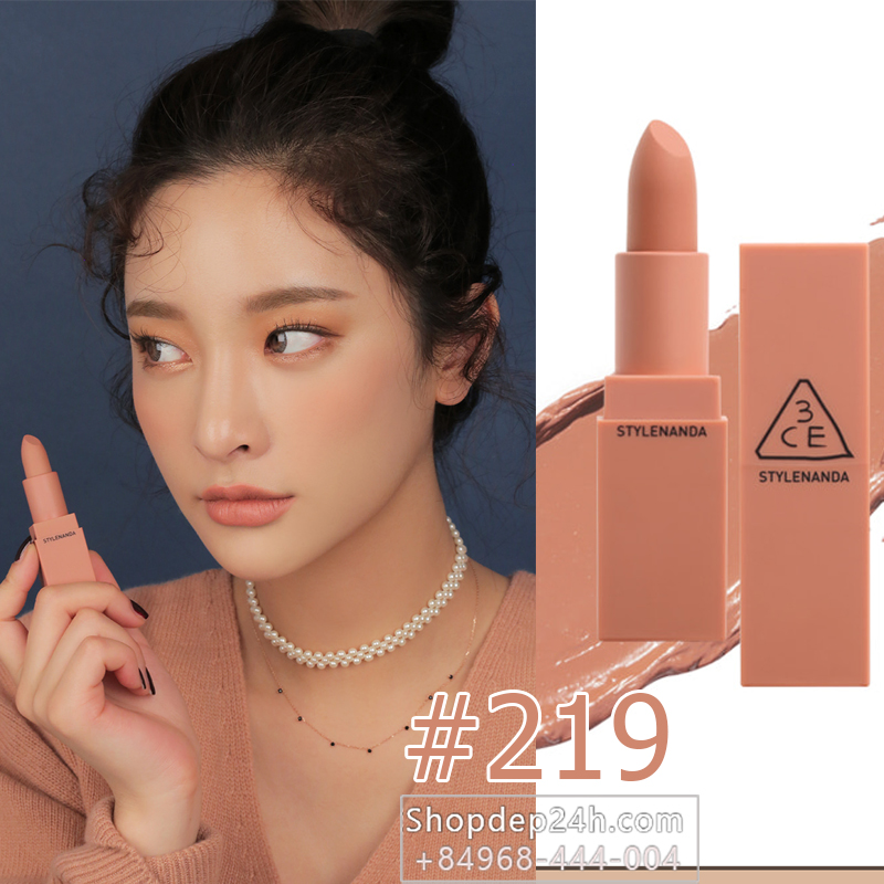 3CE MOOD RECIPE MATTE LIP COLOR 2017 #219