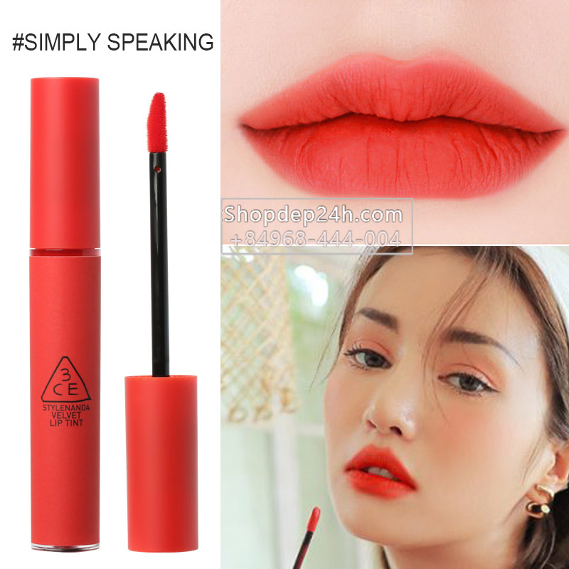 [3CE] Son 3ce Velvet Lip Tint new #Simply Speaking